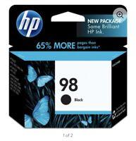 HP 98 Black Ink Cartridge C9364WN New Genuine Exp. 2020