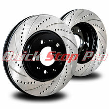MIT007F Lancer Ralliart 04-06 Performance Brake Rotor Pair Drill + Curve Slots
