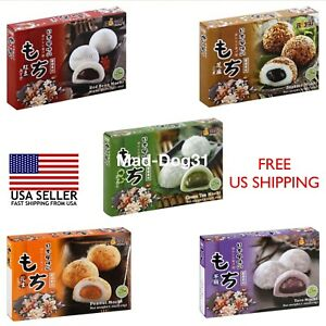Mochi Royal Family Daifuk Japanese Dessert Japan Rice USA Red Taro Sesame Tea