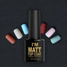 Nail Gel Polish Tips Dull Finish Top Coat Matte Easy Clean Manicure Tools Art