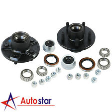 """2pcs Trailer Idler Hub Kits 5 on 4.5"""" For 2000 lbs Axle With 1-1/16"""" Bearings"""