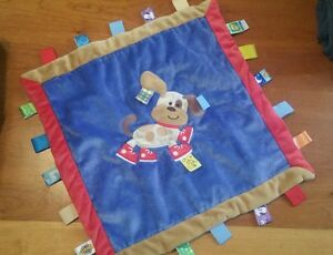 Mary meyer baby taggis dog lovey security blanket blue red boys