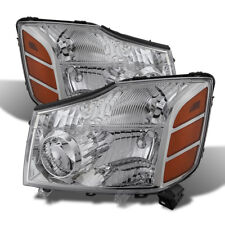 Fit Nissan 04-15 Titan / 04-07 Armada Chrome Housing Replacement Headlights