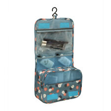 Travel Cosmetic Makeup Bag Toiletry Case Wash Organizer Storage Hanging Pouch Blue