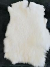 2piece 100% Natural Rabbit Crafts Arts Real Rabbit Leather Hides & Fur Pelt Us