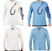 Long Sleeve T Shirt UPF 50 sun protection Big Hook Snook moisture wicking