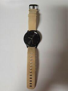 Great Garmin Vivomove HR Hybrid Smartwatch Onyx Black w/ Tan Suede Band + More
