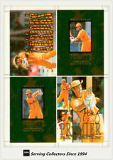 1996 Futera World Cup Cricket  Mark Waugh Batsman Signature 4-up Oversize Card