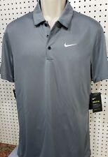 Mens Nike Breathe Polo Shirt New Gray Short Sleeve Size Small