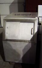 Vintage Stainless Steel Ice Cabinet Chest Cooler Doors Industrial Steampunk