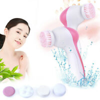 5 In 1 Skin Set Care Massager Beauty Face Wash Scrubber Cleanser Spin Brush