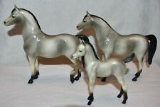 Hartland Horse Family of 3, Grey Arabian Stallion, Mare, Foal