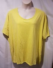 Lane Bryant Women's Size 22/24 Dolman Sleeves Yellow Top