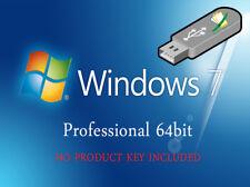 Microsoft Windows 7 Professional 64bit Re-Install Recovery Repair Fix Boot USB