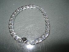 6MM 925 Sterling Silver plated CUBAN LINK bracelet Chain Men Women 6 MM