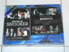 Dvd and Book Pack HISTORY OF SNOOKER Greatest moments of BILIARDO libro &
