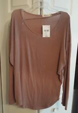 FOREVER 21  Knit top Sz L NEW w/tag Juniors  Taupe color long sleeves