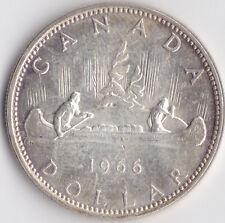 1966 Canadá Dólar De Plata-Plata 0.800