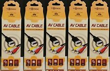 5 Lot In Boxes Stereo Rca Av Audio Video Cables for Sega Dreamcast System Tomee