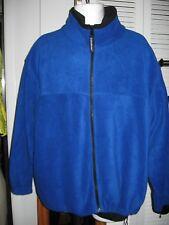 Mens LANDWAY fleece large jacket zip front pockets cozy sweater coat