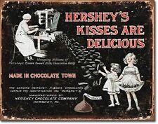 Vintage Replica Tin Metal Sign Hersheys kisses milk chocolate Hershey PA 1769