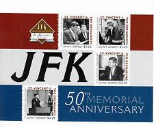 St Vincent & The Grenadines 2011 MNH JFK 50th Memorial Ann 4v M/S John F Kennedy