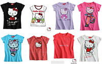 Girls HELLO KITTY SHORT SLEEVE TOP T-SHIRT 4 6 8 10 12