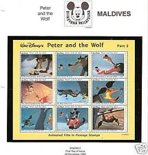 MALDIVES #1926 MNH DISNEY'S PETER AND THE WOLF SHEETLET