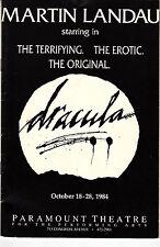 Martin Landau Dracula Playbill Paramount Theatre Austin Texas October 1984