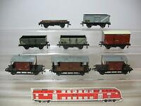 AP722-1# 8x Hornby H0/AC Güterwagen: 404844+E 178717+B459325+730026 etc
