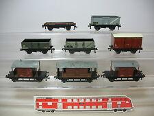 AP722-1# 8x Hornby H0/AC Vagón de mercancía: 404844+E 178717+B459325+730026 etc.