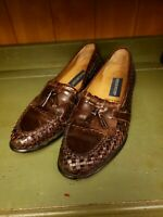 Giorgio Brutini Mens tassel loafers BROWN 10.5 D