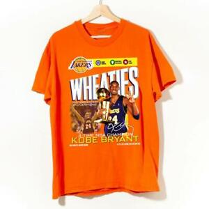 Vintage Los Angeles Lakers Wheaties 4-Time N.B.A Champ K0be Bryant T Shirt