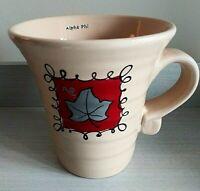 """ALPHA PHI""  Silver Ivy Leaf Signature 16oz Coffee Mug"