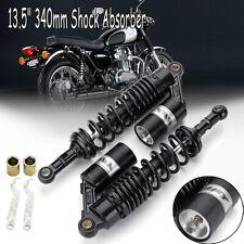Motorcycle 13.5'' 340mm Rear Air Shock Absorbers For Yamaha Honda Suzuki Harley