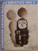 Pieghevole pubblicitario - Allason - contatori acqua - anni '40 - idraulica