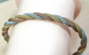 Armkette 925 SILBER Sterling Silver argent Tricolor kette bracelet Armband