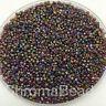 50g glass seed beads - Purple Metallic Rainbow - approx 2mm (size 11/0) craft