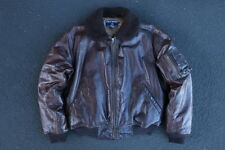 Vintage Polo Sport Ralph Lauren G-1 Leather Flight Jacket M RRL USN Horsehide