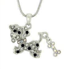 "BEAGLE W Swarovski Crystal DOG Bone Puppy Pet Friend Gift 18"" Chain Necklace"