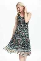 Summer Party Maxi Dress Multicolored Swing Beach Holiday Floral Sundress #703