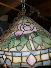 tiffany style glass light fixture antique