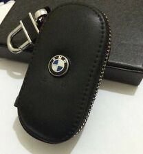BMW  Leather Key Cover Case Holder Ring Chain Fob !