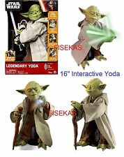 Disney Star Wars Legendary Jedi Master Yoda Interactive 16 inch Figure NEW