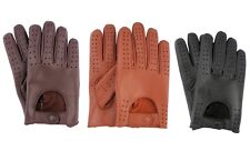 MEN'S LAMBSKIN LEATHER FASHION CLASSIC DRIVING GLOVES CHAUFFEUR Slim Fit