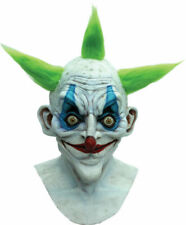 Adult Old Clown Evil Scary Creepy Circus Costume Full Latex Mask Tb26402