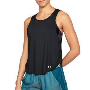 Under Armour UA HeatGear Vivid Keyhole Back Tank Ladies Black Running Vest XS