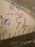 HOF WAYNE GRETZKY + ROB BLAKE + JAMIE STORR + RAY FERRARO &1mo SIGNED KINGS BOOK