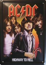 Ac/dc chapa escudo 15x20cm Highway to Hell angus young rockband AC DC Hells Bells