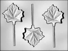 Maple Leaf Chocolate Lollipop Candy Mold from CK #13110 - NEW